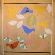 Johanna Engdahl. Birds in Krakow.Oil on linen canvas, 100 x 100 cm, 2015-2016(1)