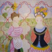 Johanna Engdahl. Powerlessness. Oil on linen canvas,100x100 cm, 2016